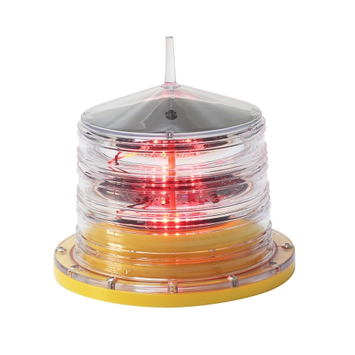 Low Intensity Solar Powered Aviation Obstruction Light