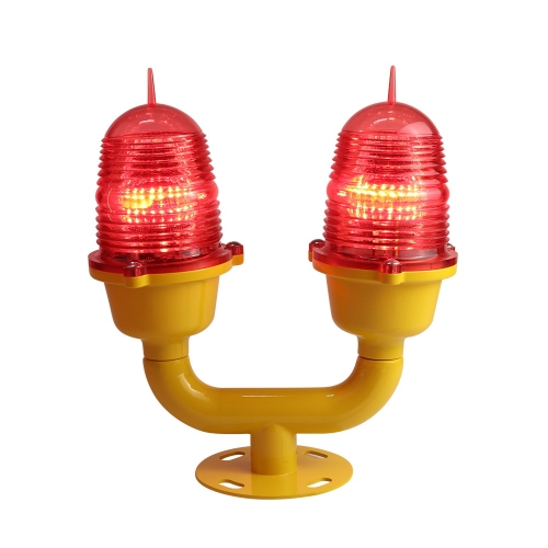Low Intensity Double Aviation Obstruction Light For Tower and Building