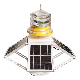 Adjustable Solar Powered Medium Intensity Obstacle Light